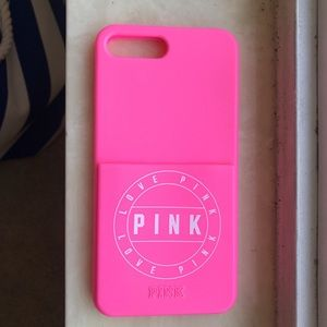 victoria secret PINK iPhone 7+/8+ rubber case
